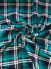"1 Meter Tartan Check Print 100% Brushed Cotton Fabric 58"" Wide Soft Warm Flannel"