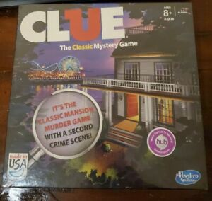 Clue Game 2013 Edition with 2 Versions The Mansion Game & Boardwalk Game New