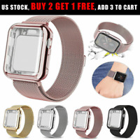 For Apple Watch Series 6 5 4 SE Magnetic Metal iWatch Band Full Body Case Cover