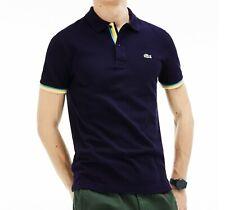 Lacoste Mens Polo Shirt BNWT size XXL (7) Navy Blue Slim Fit PH4220