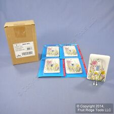 5 Leviton Wildflower Porcelain Light Switch Cover Toggle Wall Plates 89501-WFL