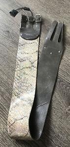 Fiorelli Snake Skin Pattern Whistle Indescent Triple Buckle Waist Belt Size L