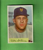 1954 BOWMAN #128 EBBA ST. CLAIRE NEW YORK GIANTS EX+