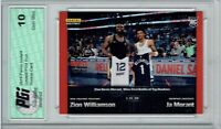 Zion Williamson Ja Morant 2019 Panini Instant #83 1/616 Made Rookie Card PGI 10
