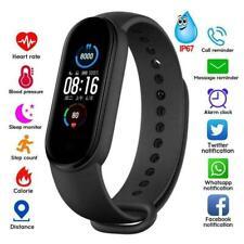 M 5 Reloj con Banda Inteligente Pulsera Pulsera Fitness Tracker Presión Arterial Frecuencia Cardíaca.