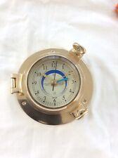 Nauticalia Saloon Brass Tide Clock