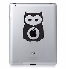 Owl Apple Ipad mac macbook laptop autocollant vinyle décalcomanie. Personnalisé