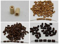 Craft DIY Wood Column Tube Beads ~Wooden Spacer Beads 4X6mm 4X8mm 5X8mm 6X10mm