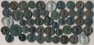 49 ANCIENT ROMAN COINS (VERY NICE BIG LOT > SEE THE PICTURES) NO RESERVE