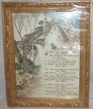 """OUT FISHIN' Poem by Edgar A Guest FRAMED PRINT Gold Ornate VINTAGE LOOK 7"""" x 9"""""""