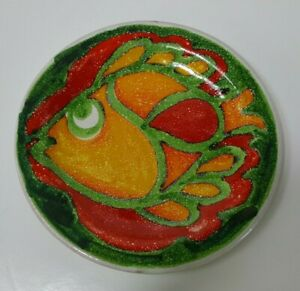 Vintage De Simone / Desimone Pottery Plate with Fish Design c.1960's? - C1303