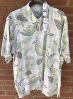 $125 TOMMY BAHAMA 'MAI TAI JUNGLE' 100% SILK HAWAIIAN CAMP ALOHA SHIRT XXL 2XL