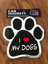 "Car Magnets Who Rescued Who? "" I ❤️ My Dogs"", Ships N 24h"