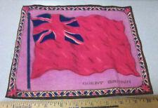 Vintage 1910-1915 Cigar Box Felt silk flag, Great Britain 8 x 10 older red style