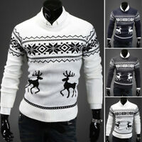 CHRISTMAS SWEATER Vacation Elf Funny Men Sweatshirt Knitted Pullover Tops Xmas