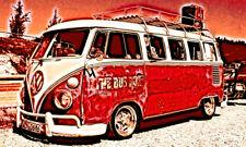 POSTER XXL POP ART VW BULLI BUS BULLY T1 VAN ABSTRAKT GRAFFITI POSTER 150x90