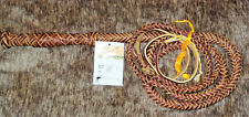 ~NEW~ Down Under Saddle 7 Foot Red-hide Leather Stock BullWhip Brown 12 plait