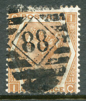 "GB 872, QV 6 D orangebrown Pl. 11 ('IC'), very fine used with LONDON Numeral ""88"