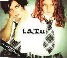 TATU T.A.T.U ALL THE THINGS SHE SAID 4 TRACK CD SINGLE INC VIDEO EUROVISION