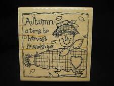 JRL Design Co Rubber Stamp Autumn Time to Harvest Friendships
