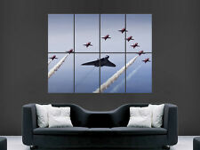 VULCAN RED ARROWS JETS POSTER  AEROPLANE CLASSIC SKY WALL ART PRINT