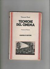 Vincent Pinel TECNICHE DEL CINEMA marsilio LEGGERE CONDIZIONI