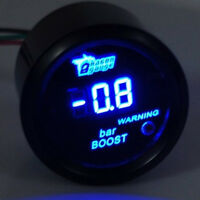 """2"""" 52mm Black Car Digital Blue LED Light Bar Turbo Boost LED Gauge Meter"""