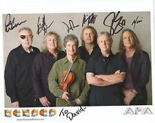 KANSAS HAND SIGNED 8x10 COLOR GROUP PHOTO+COA      SIGNED BY BAND      TO DAVID