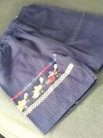 Shorts, Bermuda, blau, Größe 116, Jersey- Hose,kurz, print, Absorba, Vintage