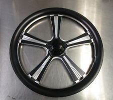 """Jr. Dragster 16"""" Black Obsession Front Wheels(set of 2) w/Tires & Tubes Mounted"""
