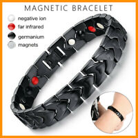 Men Therapeutic Energy Healing Bracelet Stainless Steel Magnetic Therapy Bracele