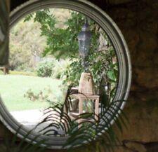 Round Wall Mirror Silver Rim Large Frame 90cm Wall Decor Hampton French Style