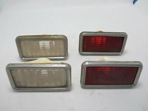 68-69 Buick GS Skylark Special Sportwagon Front Rear Side Marker Light Set USED