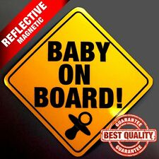 REFLECTIVE Baby On Board Magnetic Sign Safety Kit