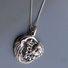 Luna de Plata de Ley-Sun Colgante Collar por lepos Jewellery