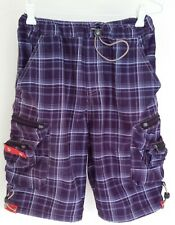 Original Diesel Boys Blue Checked Shorts Size 12 R  Made in Thailand