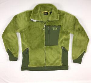 Mountain Hardwear Womens Monkey Fleece Full Zip Jacket Green Deep Pile Medium