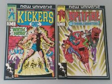 Marvel New Universe Lot Of 2 Kickers Inc #1, Spitfire And The Troubleshooters #1