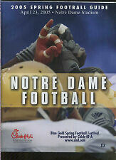 2005 Notre Dame Spring Football Blue Gold game media guide MBX69