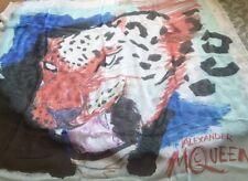 Genuine Rare Alexander McQueen Big Leopard Chiffon Scarf BNWT