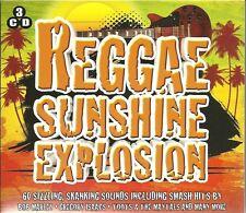 REGGAE SUNSHINE EXPLOSION - 3 CD BOX SET - 60 SIZZLING, SHANKING SOUNDS