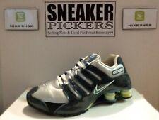 Nike Womens Shox NZ SL - 366571 041 - Metallic Silver / Blue - White - Size: 8