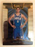 Zhaire Smith 2018-19 Panini Select Concourse  Rookie RC Philadelphia 76ers #56