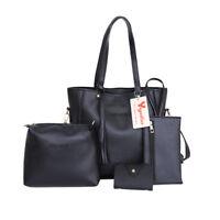 4pcs Set Women Handbag Lady Shoulder Bags Tote Purse Messenger Satchel Leather