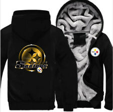 Pittsburgh Steelers Football fan's Thicken Hoodie winter Hooded Coat Jacket