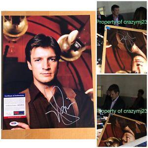 Nathan Fillion Signed Malcolm Reynolds 11x14 Firefly Castle Autograph PSA COA