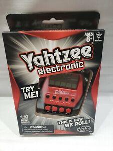 Yahtzee Hasbro Electronic Handheld Digital Board Game Ages 8+