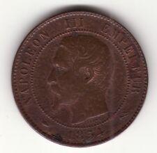 Napoleon III Empereur 1854 B Deux Centime Münze Frankreich France