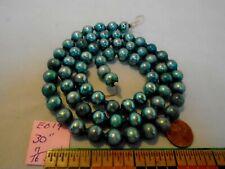 "Christmas Garland Mercury Glass Blue 30"" Long 7/16"" Beads Eb19 Vintage"