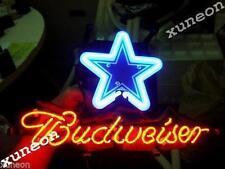 Rare Budweiser Dallas Cowboys Nfl Football Beer Bar Pub Real Neon Light Sign